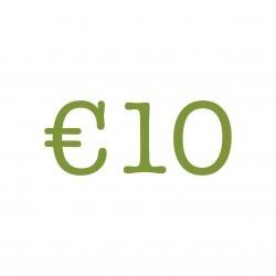 €10 Lunch tegoed