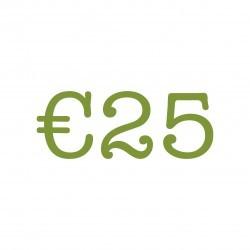 €25 Lunch tegoed